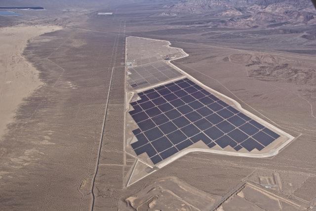 Solar Plant under construction in Eldorado Valley
