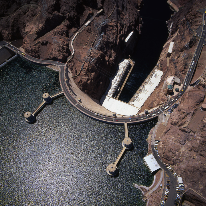 Hover Dam when the lake was full